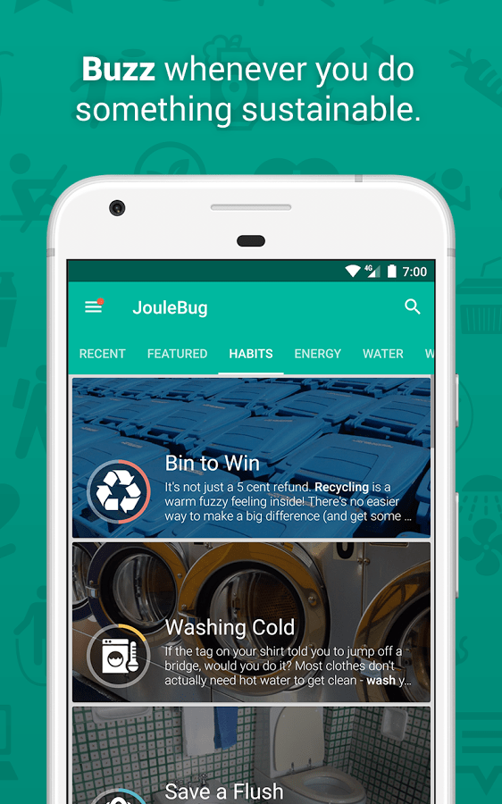 JouleBug-App-Sustainability-Actions