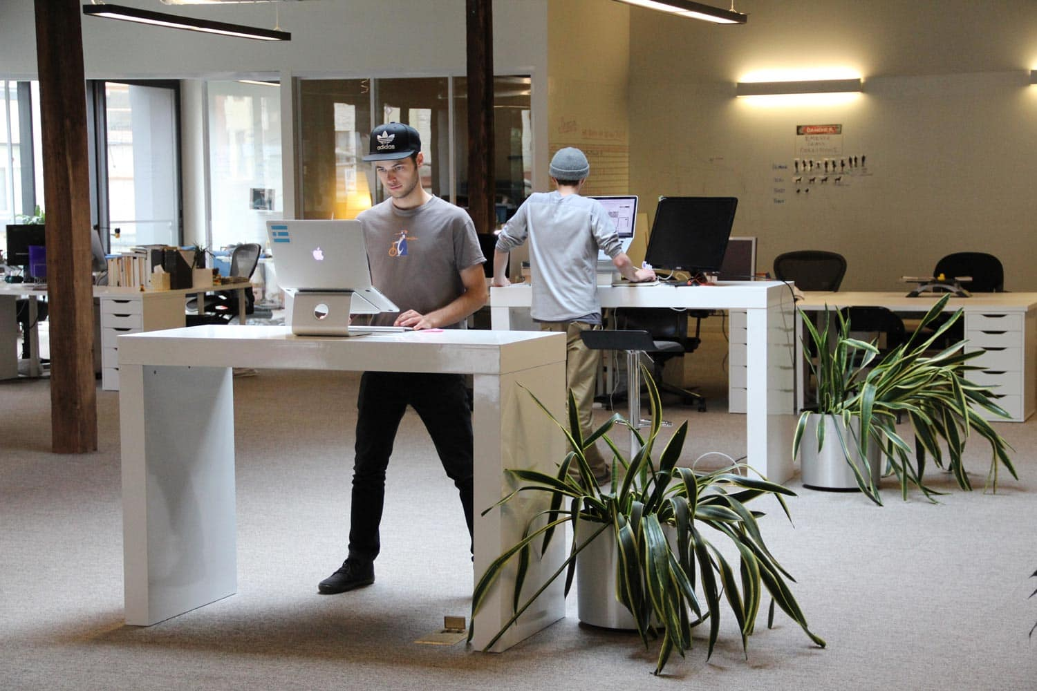 Standing desks at Emerge Interactive, Portland, OR