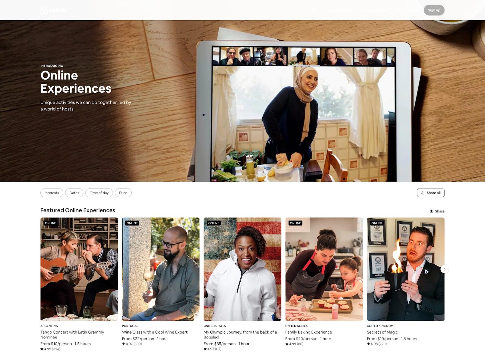 Airbnb website crisis design