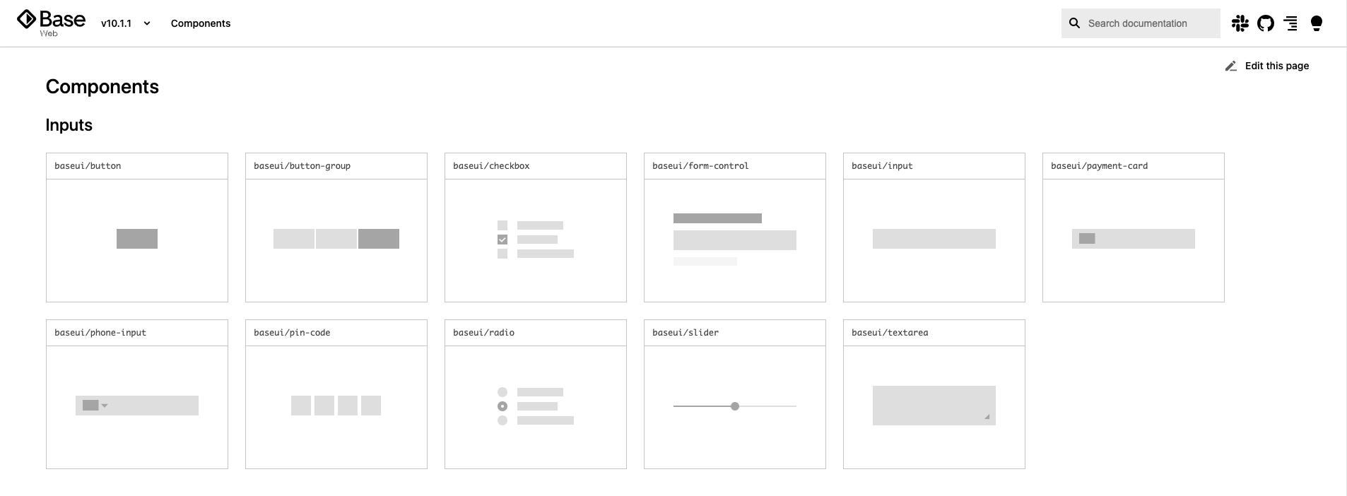 Screenshot of Base Web by Uber
